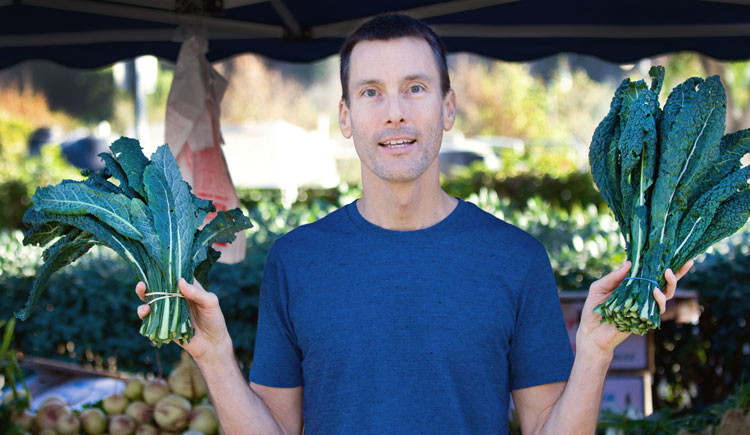 Larry D Cook holding Kale